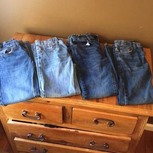 4 pairs!!!! Boys old navy jeans.